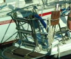 Balcon arrière bâbord voilier