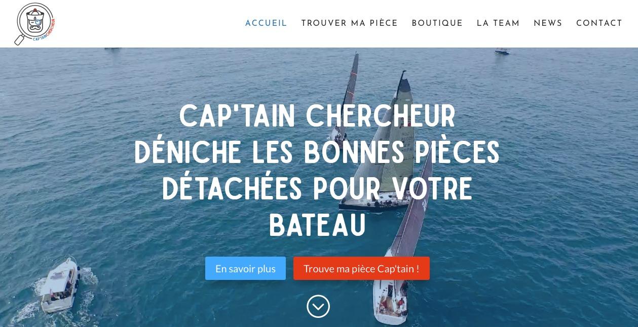 Video drone page accueil Cap'tain Chercheur