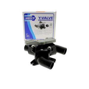 Vanne Y eaux grises/noires 38mm Jabsco