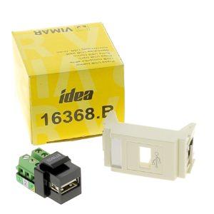 Prise USB 1 Module VIMAR IDEA 16368.B