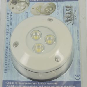 Plafonnier Spot LED 3 x 1W Saillie Blanc