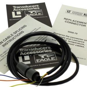 Câble de capteur de vitesse Lowrance /Eagle avec prise Câble de remplacement de 1 mètre. Remplace le connecteur des modules Lowrance et Eagle Loran et GPS, les capteurs de température et les capteurs de vitesse-température par des connecteurs gris. Câblé nu, l'épissure nécessite donc une soudure. Numéro d'article: 0008-70